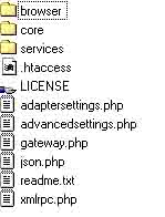 Folder structure of AMFphp 1.9 beta